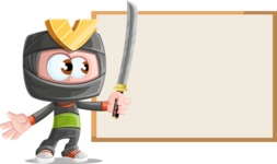 Cute Ninja Cartoon Vector Character AKA Arata - Presentation 1