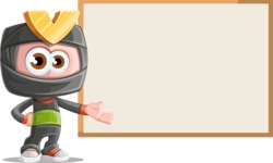 Cute Ninja Cartoon Vector Character AKA Arata - Presentation 2