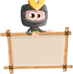 Cute Ninja Cartoon Vector Character AKA Arata - Presentation 3