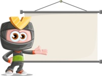 Cute Ninja Cartoon Vector Character AKA Arata - Presentation 6