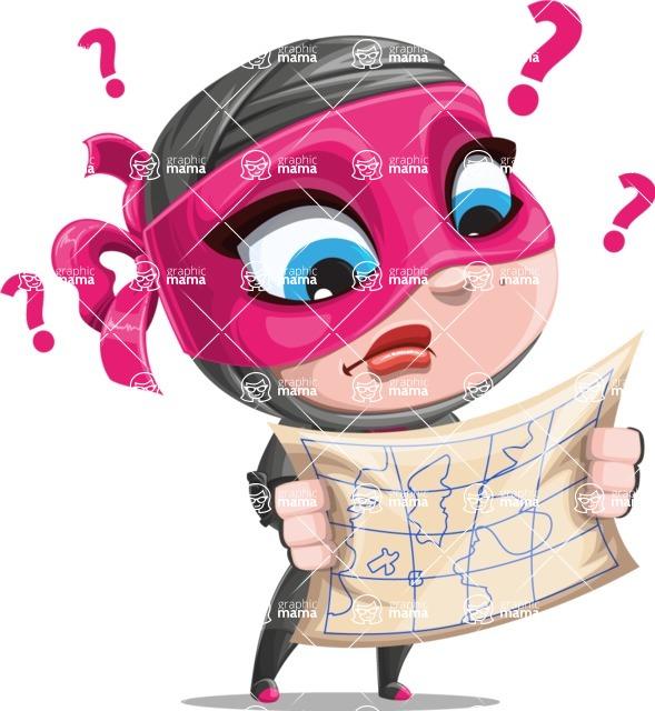 Cute Ninja Girl Cartoon Vector Character AKA Hiroka - Lost 2