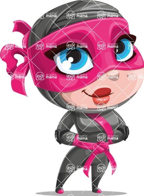 Cute Ninja Girl Cartoon Vector Character AKA Hiroka - Patient