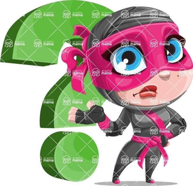Cute Ninja Girl Cartoon Vector Character AKA Hiroka - Question