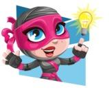 Cute Ninja Girl Cartoon Vector Character AKA Hiroka - Shape 4