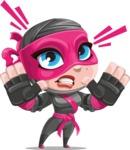 Cute Ninja Girl Cartoon Vector Character AKA Hiroka - Stop 1