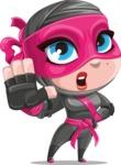 Cute Ninja Girl Cartoon Vector Character AKA Hiroka - Stop 2