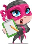 Cute Ninja Girl Cartoon Vector Character AKA Hiroka - Note 1
