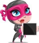 Cute Ninja Girl Cartoon Vector Character AKA Hiroka - Tablet 2