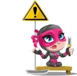Cute Ninja Girl Cartoon Vector Character AKA Hiroka - Under Construction 1