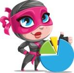 Cute Ninja Girl Cartoon Vector Character AKA Hiroka - Chart