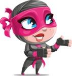 Cute Ninja Girl Cartoon Vector Character AKA Hiroka - Showcase 2