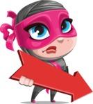 Cute Ninja Girl Cartoon Vector Character AKA Hiroka - Pointer 2