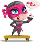 Cute Ninja Girl Cartoon Vector Character AKA Hiroka - Talking