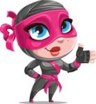 Cute Ninja Girl Cartoon Vector Character AKA Hiroka - Show 1