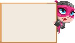 Cute Ninja Girl Cartoon Vector Character AKA Hiroka - Presentation 4