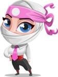 Girl with Ninja Mask Cartoon Vector Character AKA Matsuko - Normal