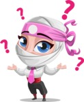 Matsuko The Businesswoman Ninja - Confused