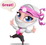 Matsuko The Businesswoman Ninja - Thumbs Up