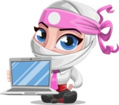 Matsuko The Businesswoman Ninja - Laptop 1