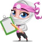 Matsuko The Businesswoman Ninja - Note 1