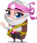 Girl with Ninja Mask Cartoon Vector Character AKA Matsuko - Travel