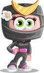 Japan Ninja Girl Cartoon Vector Character AKA Miho - Normal