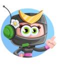 Japan Ninja Girl Cartoon Vector Character AKA Miho - Shape 3