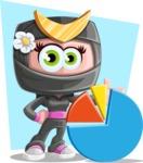 Japan Ninja Girl Cartoon Vector Character AKA Miho - Shape 10