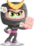 Japan Ninja Girl Cartoon Vector Character AKA Miho - Stop 2