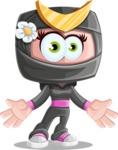 Japan Ninja Girl Cartoon Vector Character AKA Miho - Stunned