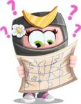Japan Ninja Girl Cartoon Vector Character AKA Miho - Lost 2
