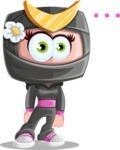Japan Ninja Girl Cartoon Vector Character AKA Miho - Blank