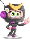 Japan Ninja Girl Cartoon Vector Character AKA Miho - Support