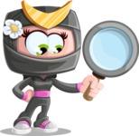 Japan Ninja Girl Cartoon Vector Character AKA Miho - Search