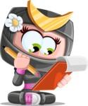 Japan Ninja Girl Cartoon Vector Character AKA Miho - Note 2
