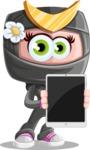 Japan Ninja Girl Cartoon Vector Character AKA Miho - Tablet 1