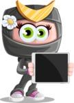 Japan Ninja Girl Cartoon Vector Character AKA Miho - Tablet 2