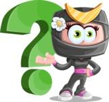 Japan Ninja Girl Cartoon Vector Character AKA Miho - Question