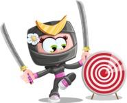 Japan Ninja Girl Cartoon Vector Character AKA Miho - Target