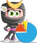 Japan Ninja Girl Cartoon Vector Character AKA Miho - Chart