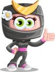 Japan Ninja Girl Cartoon Vector Character AKA Miho - Show 1