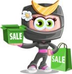 Japan Ninja Girl Cartoon Vector Character AKA Miho - Sale 2