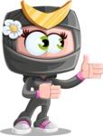 Japan Ninja Girl Cartoon Vector Character AKA Miho - Show 2