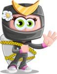 Japan Ninja Girl Cartoon Vector Character AKA Miho - Travel