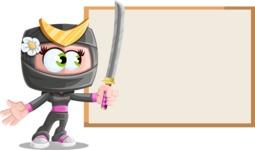 Japan Ninja Girl Cartoon Vector Character AKA Miho - Presentation 1