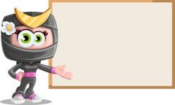 Japan Ninja Girl Cartoon Vector Character AKA Miho - Presentation 2