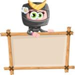 Japan Ninja Girl Cartoon Vector Character AKA Miho - Presentation 3