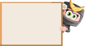 Japan Ninja Girl Cartoon Vector Character AKA Miho - Presentation 4