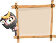 Japan Ninja Girl Cartoon Vector Character AKA Miho - Presentation 5