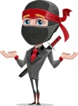 Business Ninja Cartoon Vector Character AKA Daikoku - Sorry